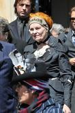 fashion designer vivienne westwood leaving the holy