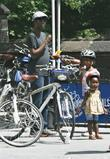 Chris Rock, his daughters Lola Simone and Zahra Savannah were spotted hiring bicycles in Manhattan