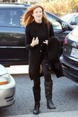 Marcia Cross in Brentwood wearing an oversized black...