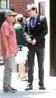Matt Bomer shooting on location for the 2nd season of USA Networks television series