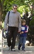Matthew Broderick and His Son James Wilkie Broderick Seen Walking In Greenwich Village