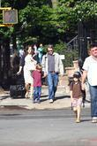 Matthew Broderick walking his son, James Wilkie Broderick...