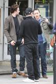 Aaron Johnson, Matthew Vaughn and James McAvoy