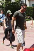 Megan Fox, Brian Austin leaving the Cheesecake Factory at the Grove in Hollywood and CA.