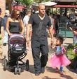 Mel B, her daughter Angel Iris Brown and Melanie's husband Stephen Belafonte enjoy Fathers day at the Grove