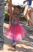 Melanie Brown's Daughter Angel Iris Brown Enjoys Fathers Day At The Grove