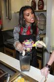 Melody Thornton creates her own milkshake containing peanut butter