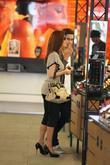 Simon Cowells fiance Mezghgan Hussainy visiting the MAC cosmetics store on Robertson Boulevard