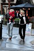 Manchester United, England Footballer Michael Carrick With His Wife Lisa, Their Daughter Louise After Eating At 'fosters Fish and Chip Shop' In Alderley Edge.