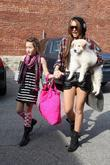 Miley Cyrus and her sister Noah Cyrus arrive...