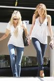 Miley Cyrus and mother Tish Cyrus walking en route to a medical building in Hollywood