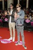Ryland Blackinton and Gabe Saporta of Cobra Starship...