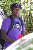 Boston Celtics Point Guard Nate Robinson Leaving His Hotel Ahead Of The Los Angeles Lakers Vs. Boston Celtics Game 6 Of The Nba Finals