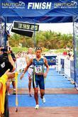 Australian triathlete Chris McCormack comes in first place