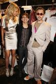 Katrina Bowden, Alan Cumming and Christian Siriano