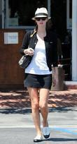 Nicky Hilton, wearing a straw fedora and seen outside Fred Segal