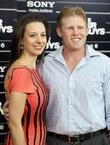 Sarah Hughes; Andrew Giuliani attend the NY movie...