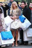 Paris Hilton filming a commercial outside Bloomingdale's for...
