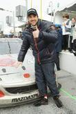 Patrick Dempsey  gives the thumbs up with...