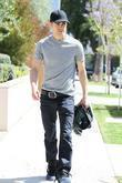 'the Vampire Diaries' Star Paul Wesley Shops At Diesel Boutique In West Hollywood.