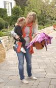Alison Sweeney and her daughter Celebrities at Pottery...