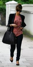 Pregnant Rachel Stevens going to the hospital for...