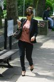 Pregnant Rachel Stevens going for lunch after leaving...
