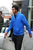 Manchester City Player Joao Alves Jo Leaving The Radisson Edwardian Hotel