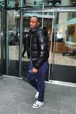Manchester City player Patrick Viera leaving the Radisson Edwardian hotel