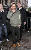 Matt Cardle leaves the BBC Radio 1 studios...