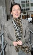 Davina McCall outside the BBC Radio 1 studios...