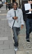 Tinchy Stryder arriving at the BBC Radio 1...