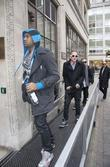 Far East Movement arrives at BBC Radio 1...