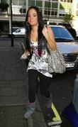 Tula Contostavlos aka Tulisa of N-Dubz outside the...