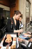 Gemma Aterton Stops To Sign Autographs For Waiting Fans Outside The Radio 1 Building
