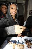 Aston Merrygold JLS leaving the BBC Radio 1...