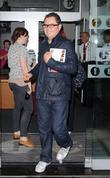 Alan Carr leaving Radio One London, England