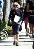 Actress Renee Zellweger out for a stroll after...
