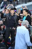 Ricky Martin and Mario Lopez