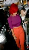 Rihanna outside the Radio 1 studios on a...