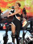 Singer Rihanna  performs on stage at the...