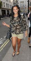 Rochelle Wiseman of The Saturdays outside the May...