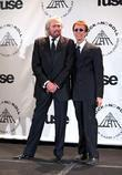 barry gibb and robin gibb of the bee gees 25th annu