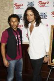 Corbin Bleu, Constantine Maroulis attending the portrait unveiling, party to honor Constantine Maroulis and the cast of the Broadway musical 'Rock Of Ages' on their First Anniversary held at Tony's di Napoli Restaurant
