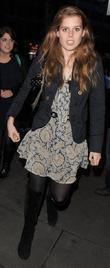 Sarah Ferguson, Duchess Of York Takes Her Daughters Princess Eugenie and Princess Beatrice To See The West End Performance Of 'the Little Dog Laughed' At The Garrick Theatre