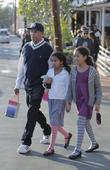 Russell Simmons, his daughters Ming Lee, Aoki Lee