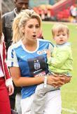 Stacey Solomon and child