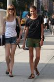 Australian supermodel, Sarah Longman seen walking through Soho...