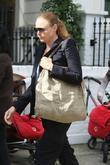 Stella McCartney taking her children to school London,...