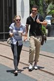 Amanda Seyfried and her boyfriend Dominic Cooper shopping...